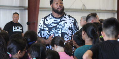 MICHAEL BENNETT LEADS GUAM STRENGTH & AGILITY