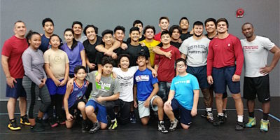 STANFORD'S JAMILL KELLY LEADS HIGH LEVEL WRESTLING CLINIC