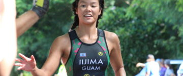 IIJIMA 1ST OVERALL FINISHER IN 2017 GUAM NATIONAL TRIATHLON CHAMPIONSHIPS