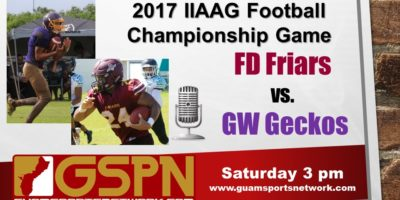 LIVE AUDIO: IIAAG FOOTBALL CHAMPIONSHIP GAME FD VS. GW