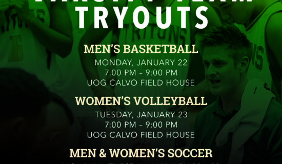 UOG TRITONS HAVING OPEN TRYOUTS FOR VARSITY SPORTS
