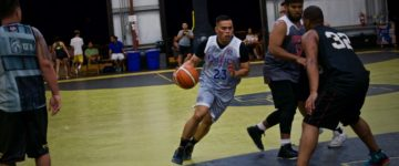 EIGHT TEAMS TOOK THE COURT IN ALL-ALUMNI LEAGUE SUNDAY