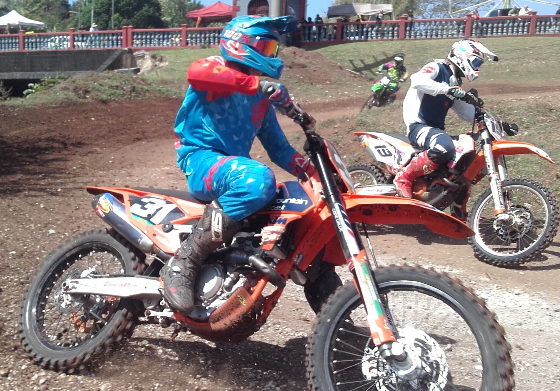 #31 Tim Wenden took the Open class win Sunday during the Guam Heritage Day MX in Umatac