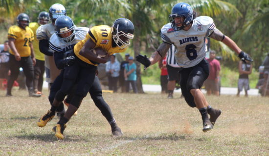 RAIDERS HOLD DOWN EAGLES IN SECOND MEETING