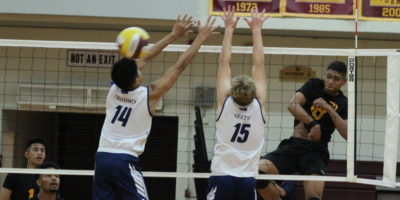MCDONALD LEADS FRIARS IN THREE-SET WIN OVER EAGLES