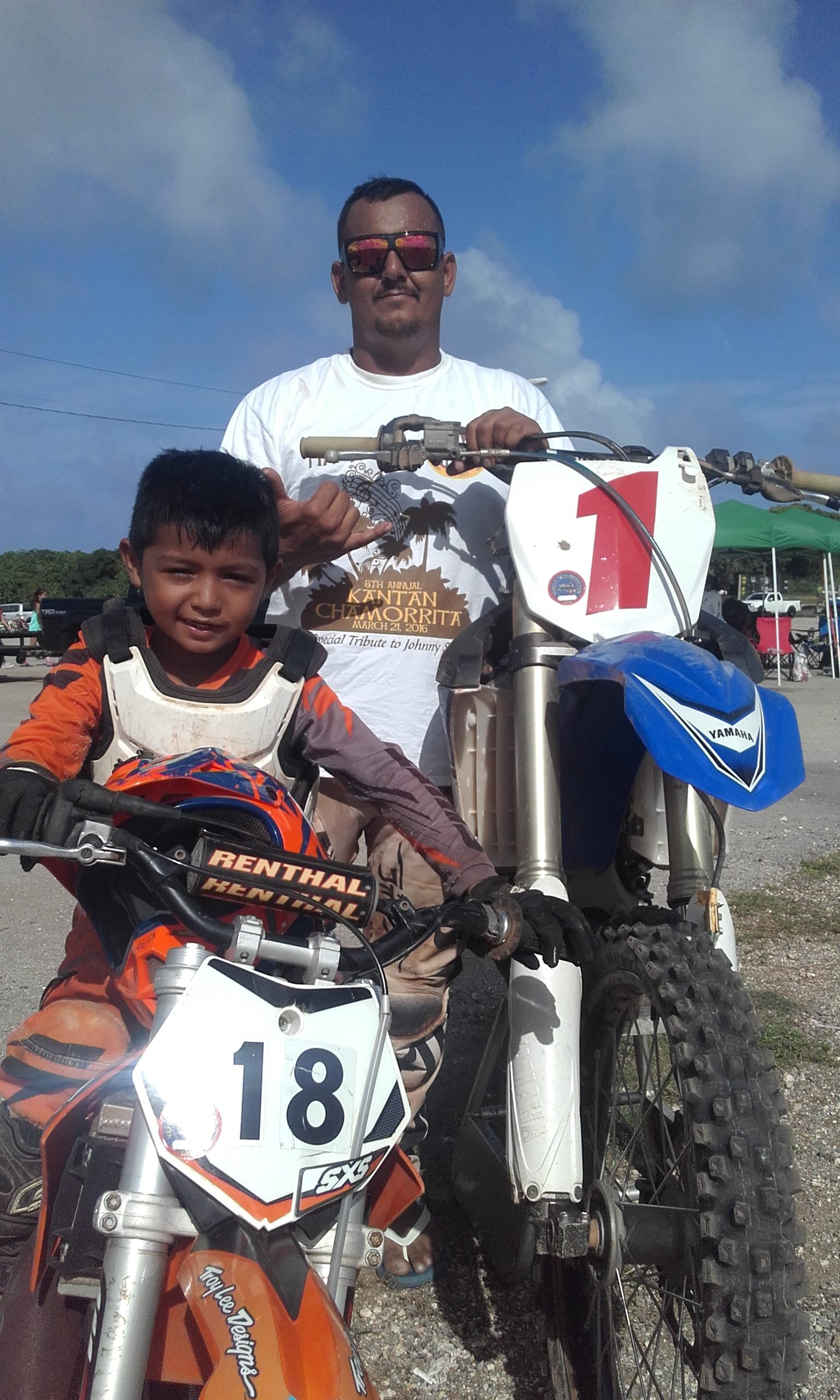 The Johns dominated Monster Energy Guam Motocross Sunday as father and son Agoun took their respective class wins