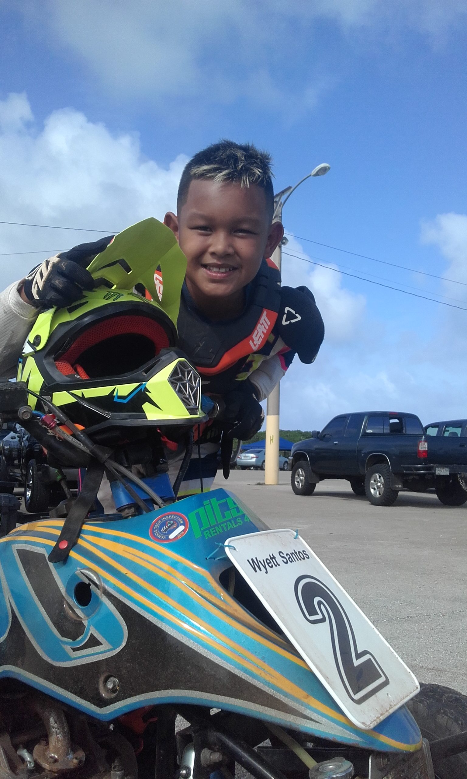 Wyett Santos was back big as he took the wins in two classes the 65cc minibike and the Mini Atv..