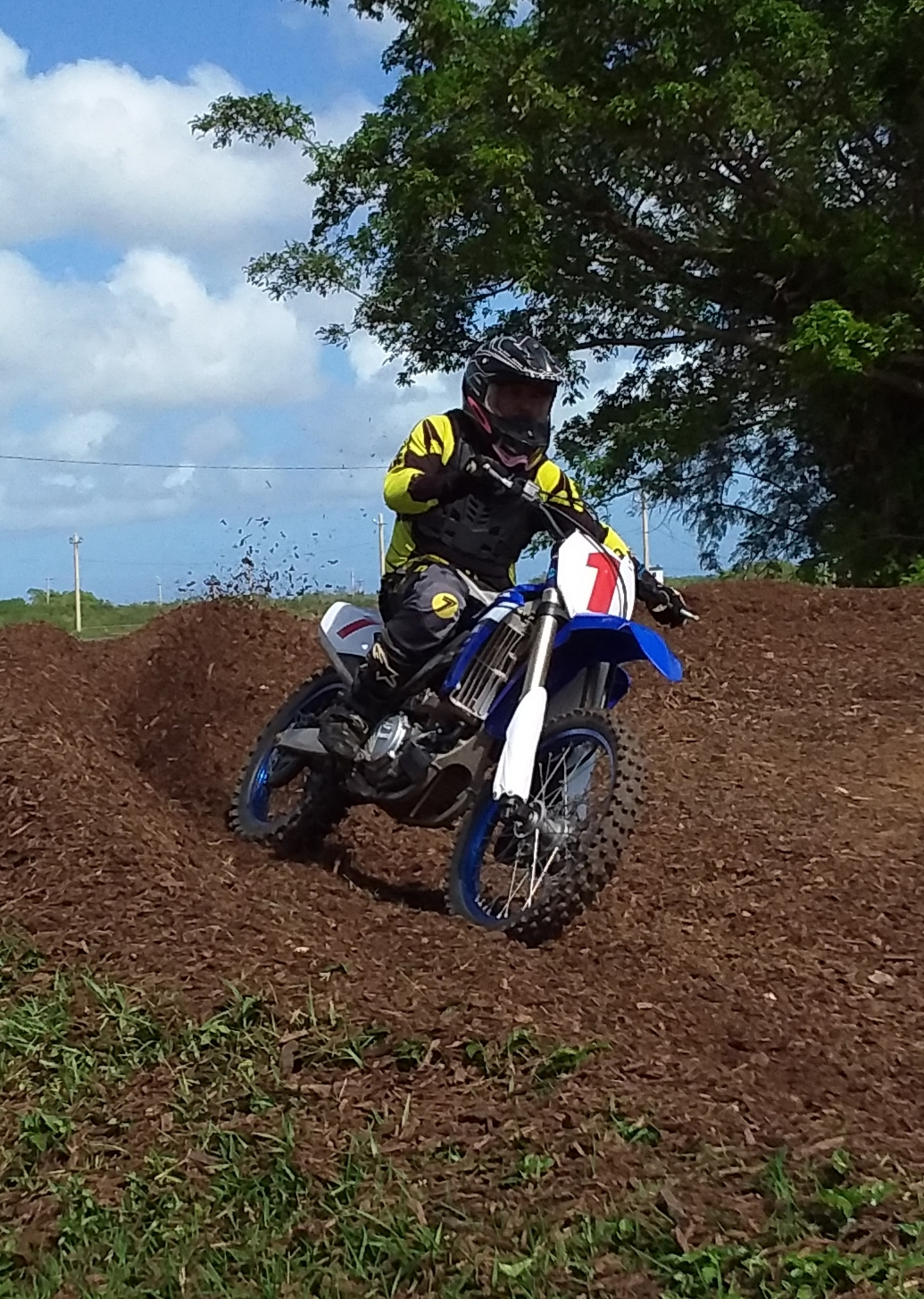 #1 Lil John Aguon took the Open Motorcycle class round 1 win
