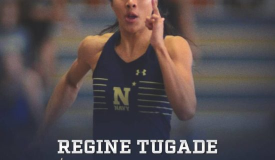 TUGADE BREAKS NAVY TRACK 200M RECORD