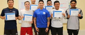 SIX EARN GFA GOALKEEPER COACHING COURSE CERTIFICATE