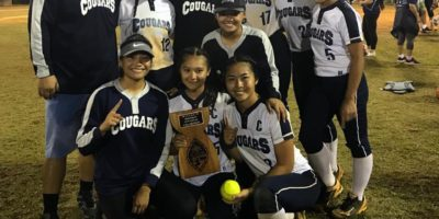 COUGARS DEFEAT PANTHERS, WIN 2019 SOFTBALL TITLE