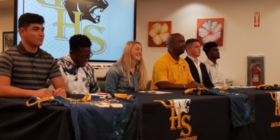 FIVE PANTHERS SIGN COLLEGIATE LETTERS OF INTENT