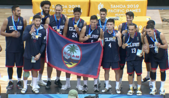 PACIFIC GAMES: GUAM BASKETBALL DEFENDS GOLD
